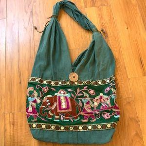 Embroidered Boho Bag